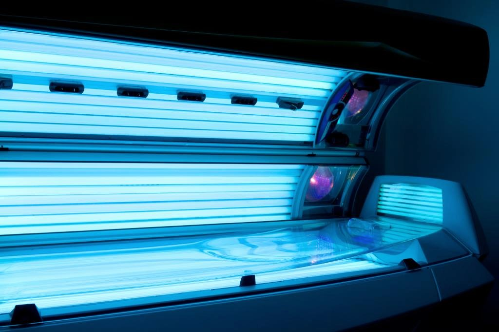 Sonnenbank im UV Licht